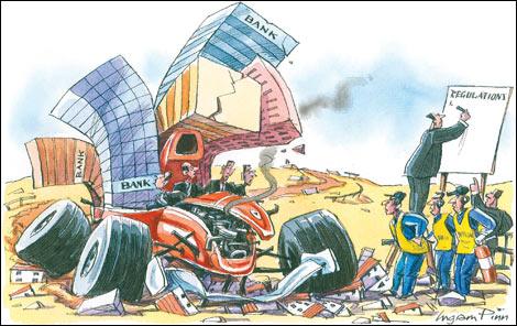 La darrera crisi financera global fa palesa la necessitat d'una certa regulació i control sobre els fluxos de capital. Font: Financial Times.