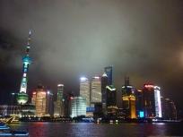 Vista del centre financer de Pudong a la ciutat de Xangai