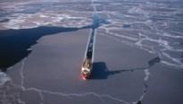 Imatge del moviment de vaixells per l'àrtic.