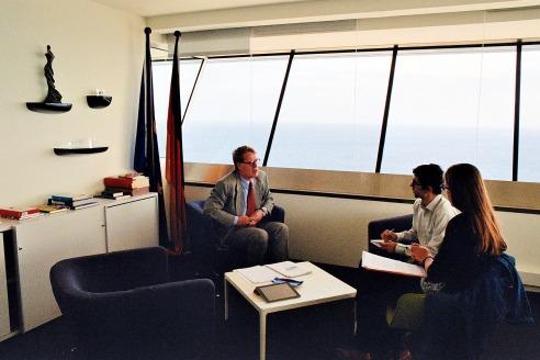 El Sr. Brasack en un moment de l'entrevista.  -  Fotografia: Xavier Ruiz