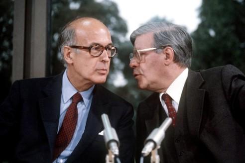 Valéry Giscard d'Estaing i Helmut Schmidt el 1980