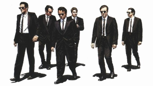 """Dibuix de la pel·lícula """"Reservoir Dogs"""", paradigma dels gangsters - font: indiwire"""