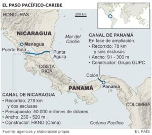 """Font: El País- """"Nicaragua espera que EE UU no vete el proyecto del Canal"""" (29/01/2015)"""